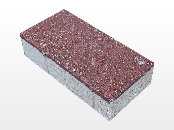 天津深红透水砖